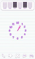 Screenshot of Scribbles Purple Analog Clock