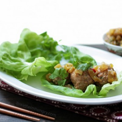 Thai Meatball Lettuce Wraps – Low Carb and Gluten Free