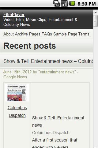 FilmPlayer Entertainment News