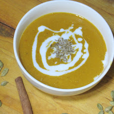 Red Lentil Soup with Cardamom and Coconut Milk