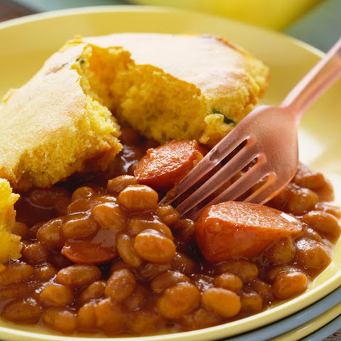 Slow-Baked Beans and Franks Meal