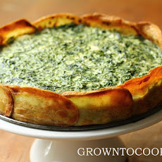 Spinach And Spring Herb Torta In Potato Crust