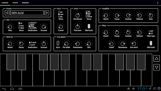 ExSynth (Synthesizer) - screenshot