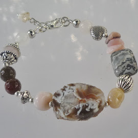 Gemstone Memory Wire Bracelet by Janet Skoyles - Artistic Objects Jewelry