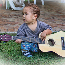Future Muso by Carole Pallier Cazzazsnapz - Babies & Children Toddlers ( music, child, guitar, instrument, baby, toddler, boy )