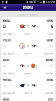 Screenshot of Baltimore Ravens Mobile