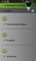 Screenshot of Utasbiztosítás