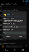 Screenshot of Build Prop Tweaker Lite