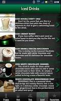 Screenshot of Hidden Menu Coffee Drinks FREE