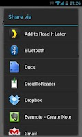 Screenshot of DroidToReader