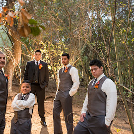 Best People In His Life by Yansen Setiawan - Wedding Groups ( groomsmen, creative, art, losangeles, illusion, love, fineart, yansensetiawanphotography, prewedding, d800, wedding, lifestyle, la, photographer, yansensetiawan, nikon, yansen, engagement )