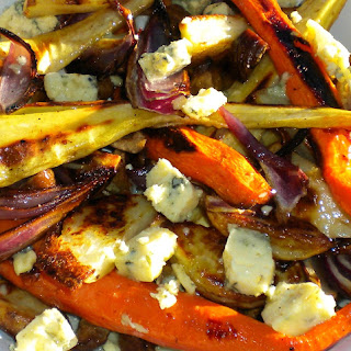 Roasted Winter Vegetables with Chestnuts & Stilton