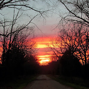 Happy Place  by Jamie Hodge - Landscapes Sunsets & Sunrises ( sky, happy, sunset, road )