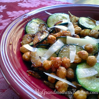 Grilled Zucchini with Roasted Chickpeas