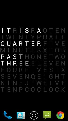 Text Clock Lite Live Wallpaper