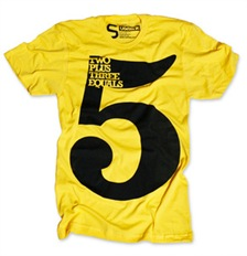 jeff sheldon typograhy tee shirt clothing apparel 2 yellow