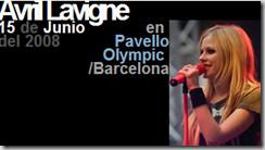 Avril Lavigne en Pavello Olympic (Barcelona) el 15 Jun 2008