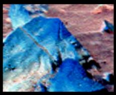 This Sphinx-like face appears in Gusev Crater