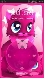 Pink cats theme 4 GO Locker - screenshot