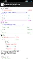Screenshot of Boeing 747 Checklist