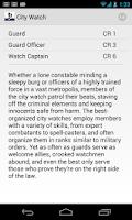 Screenshot of Pathfinder NPC Gallery