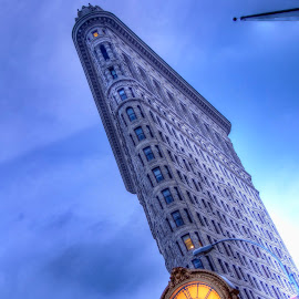 Flatiron Building by Hiro Nakajima - Buildings & Architecture Office Buildings & Hotels ( hdr, flatiron building, night, nyc, new york,  )