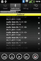Screenshot of Jabra SUPREME application