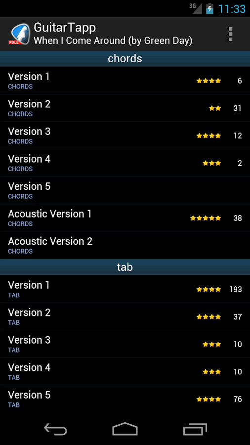 GuitarTapp PRO - Tabs & Chords Screenshot 1