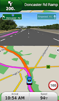 Screenshot of Garmin Navigator