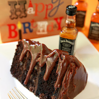 Chocolate Cake with Jack Daniels Fudge Icing