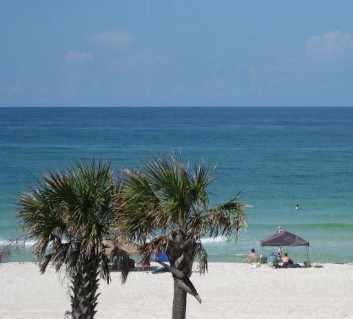 Beach at the Driftwood Lodge in Panama City Beach, Florida