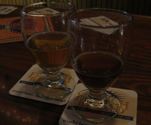 Pisgah Solstice Belgian Tripel and Vortex Triple IPA at Barley's Taproom