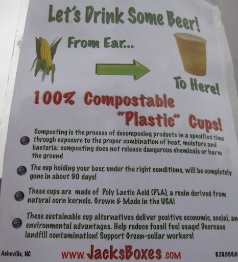Compostable Cups at Downtown After Five in Asheville, North Carolina