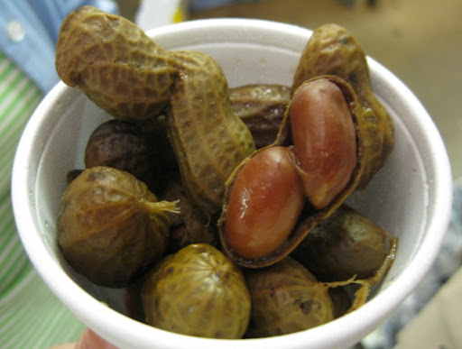 Boiled Peanuts at the WNC Farmer's Market near Asheville, North Carolina