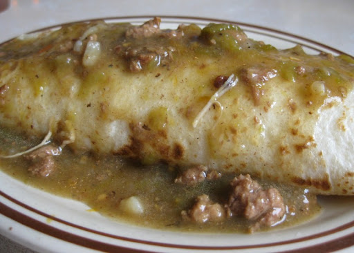 Green Chile Breakfast Burrito at Frontier