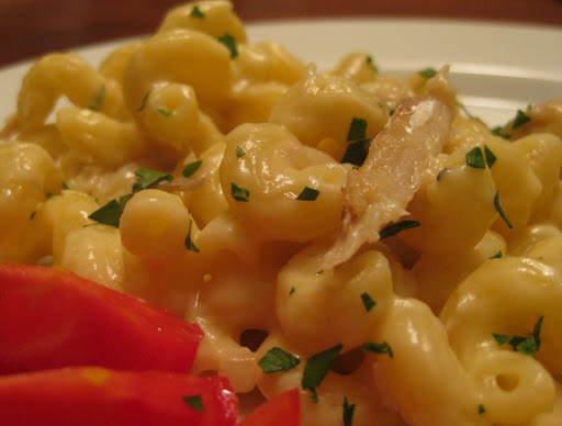 Smoked Mackerel Mac 'N Cheese