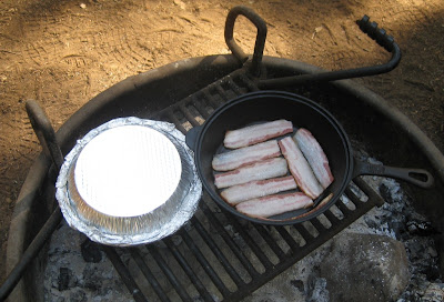 Bacon and Biscuits Cooking