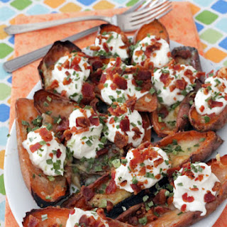Bacon and Brie Sweet Potato Skins