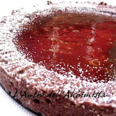 Orange Jelly Pie in a Chocolate Crust