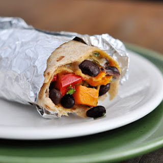 Black Bean and Sweet Potato Burritos
