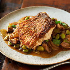 Seared Fish With Asian Mushroom Ragout