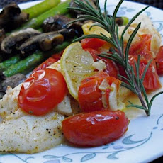 Foil-Pack Tilapia With Lemon, Rosemary & Tomato