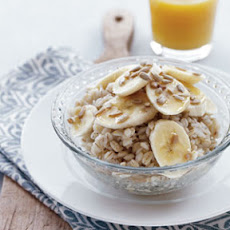 Breakfast Barley with Banana & Sunflower Seeds