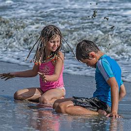 play time by Vibeke Friis - Babies & Children Children Candids ( girl, waves, beach, fiji, boy,  )