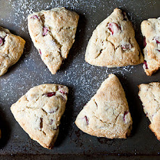 Naughty Rhubarb Scones