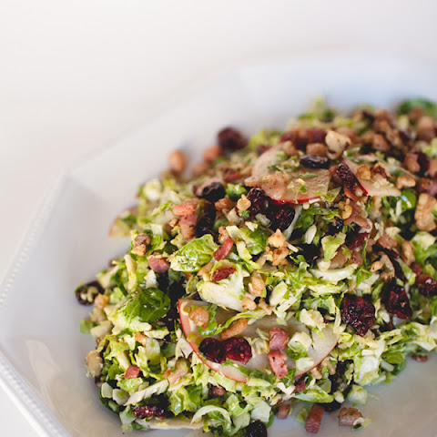 Shaved Brussels Sprout Salad with Apples, Bacon, and Hazelnuts Recipe ...