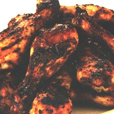 Barbecued Chicken with an Apricot Glaze