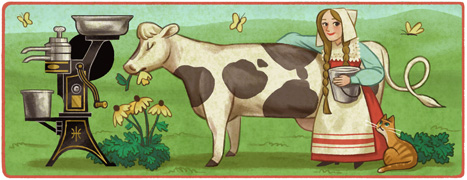 Google Doodle Gustaf de Laval's 168th birthday