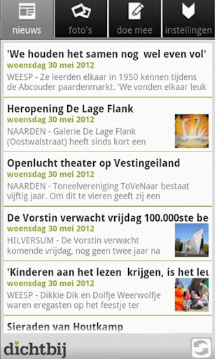 dichtbij for android screenshot