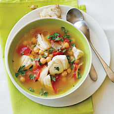 Halibut and Chickpea Soup